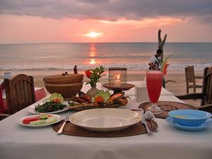 romantischdiner bali indonesie