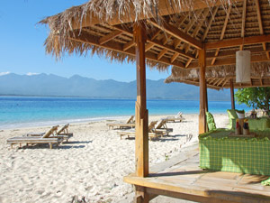 strand gili bouwsteen indonesie