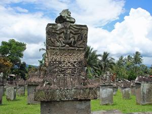 sulawesi tomohon tombe indonesie