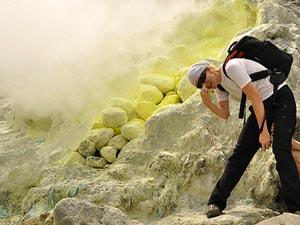 vulkaan sumatra reizen indonesie