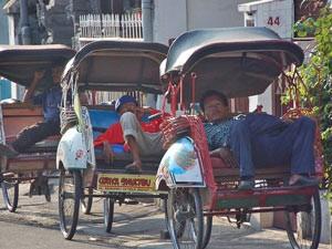 becakfietsers yogyakarta rondreis indonesie