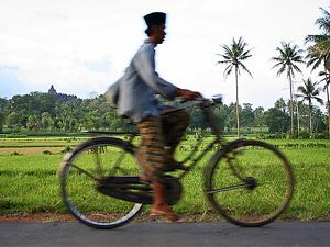 Biking to Borobudur