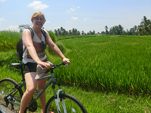Biking to Borobudur