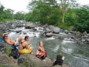 indonesie bali sidemen rivier