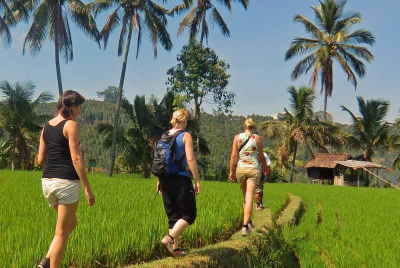 Indonesie vakantie wandelen