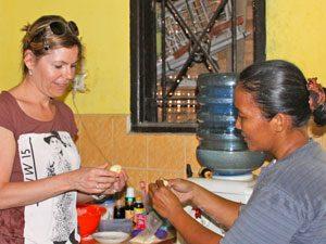 Sumatra - Medan: Bezoek lokale familie