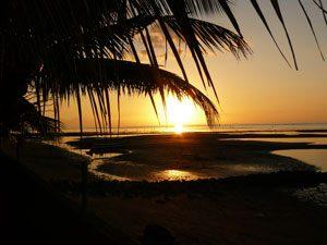 Lovina-zonsondergang