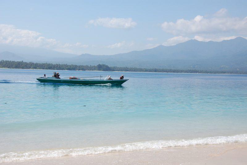 Witte stranden van de Gili's