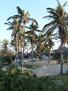 Eine unserer Unterkünfte in Mosambik