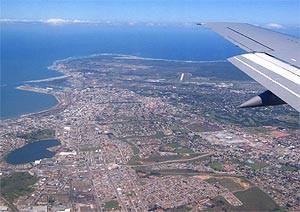 Blick aus dem Flugzeug auf dem Weg nach Port Elizabeth