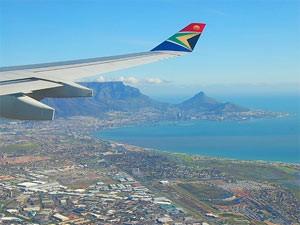 Ein letzter Blick auf Kapstadt aus dem Flugzeug