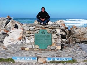 Das Schild am Kap Agulhas