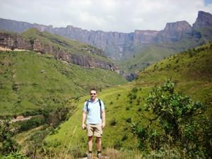 Südafrika - Drakensberge - Wanderer - Nordosten Südafrika