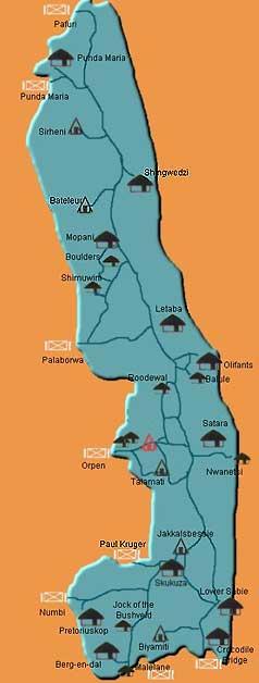 Karte Krüger Nationalpark