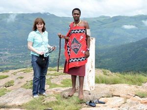 Reisende unterwegs in Swaziland
