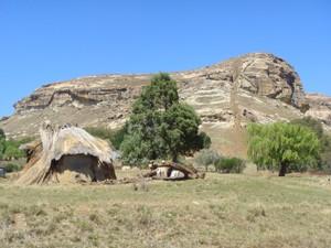 Felsformationen in Lesotho