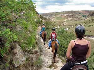 Auf dem Rücken des Ponys die Berglandschaft erkunden