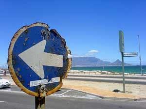 Südafrika - Straßenschild in Kapstadt