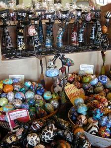 Swaziland - Marktstand eines traditionellen Marktes in Swaziland - Südafrika Gruppenreise