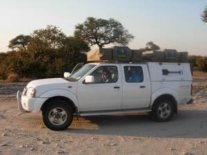 Mit dem Geländewagen zurück nach Johannesburg