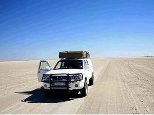 Von Makgadikgadi aus können die Salzpfannen besuchen