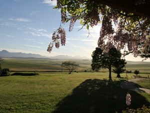 Ausblick von einer Farm in Heidelberg - Farmstay Südafrika