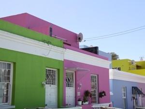 Das Bo-Kaap, ein malayisches Viertel in Kapstadt, Südafrika