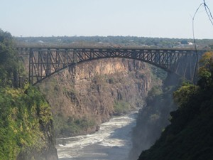 Grenzübergang Sambia und Simbabwe