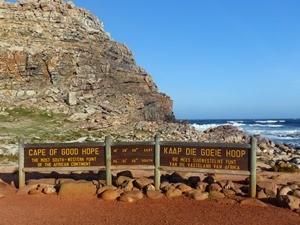 Die berühmten Schilder am Kap der Guten Hoffnung