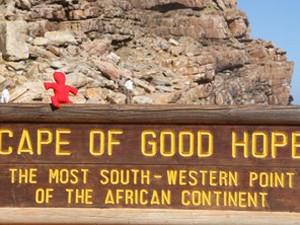 Beliebtes Fotomotiv am Kap der guten Hoffnung