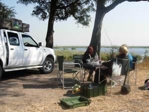 Campingplatz in Botswana