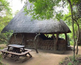 Halboffenes Steincottage im Mkhaya Game Reserve