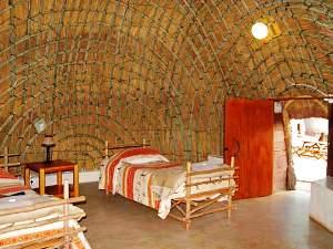 Mlilwane Bienenkorbhaus Übernachtung Südafrika Rundreise