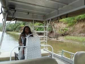 Mit dem Boot zur Safari Lodge am Ostkap