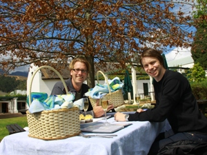 Picknick in der Weinregion