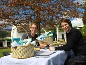 Picknick auf einem Weingut