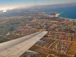 Südafrika-Flugzeug-Aussicht