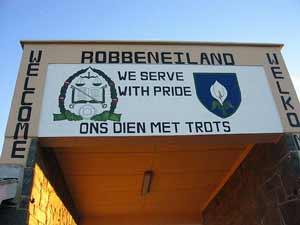 Eingang zur Gefängnisinsel Robben Island