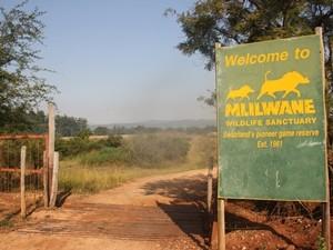 Südafrika-schild-mlilwane