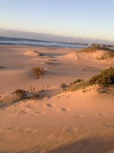 Der Strand von St. Francis Bay in der Nachmittagssonne