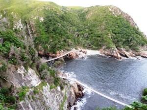 Hängebrücke im Tsitsikamma-Nationalpark auf Garden Route in Südafrika