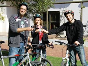 Radtour durch die Weinregion, Südafrika