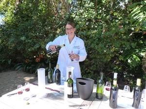 Wineblending auf einem Weingut