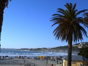 Blick auf den Strand von Camps Bay