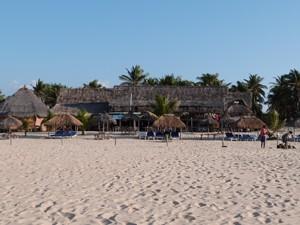 Weißer Sandstrand bei Südafrika Mosambik Reise