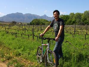 Fahrradtour durch die Weinfelder