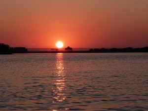 Sonnenuntergang in Mosambik