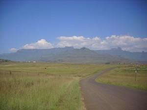 Ausblick auf die Drakensberge
