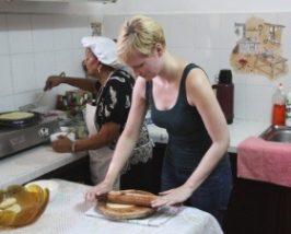 Herstellung der Dholl Puri