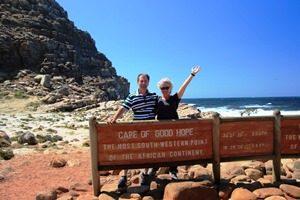 Südafrika - Kapstadt - Reisenden am Kap der guten Hoffnung